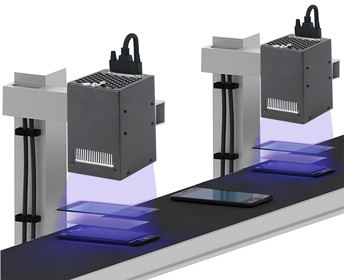 UV LED curing technology for touch screen